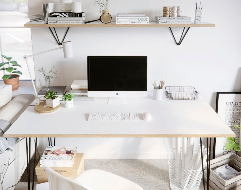 Japanese Minimalist Home Office Scandinavian