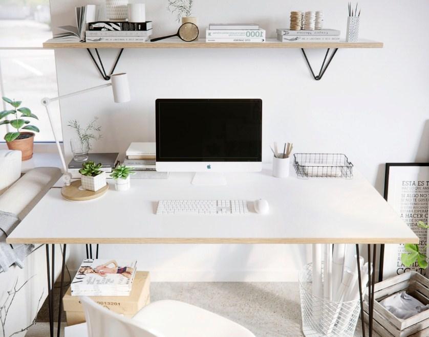 japanese minimalist home office scandinavian