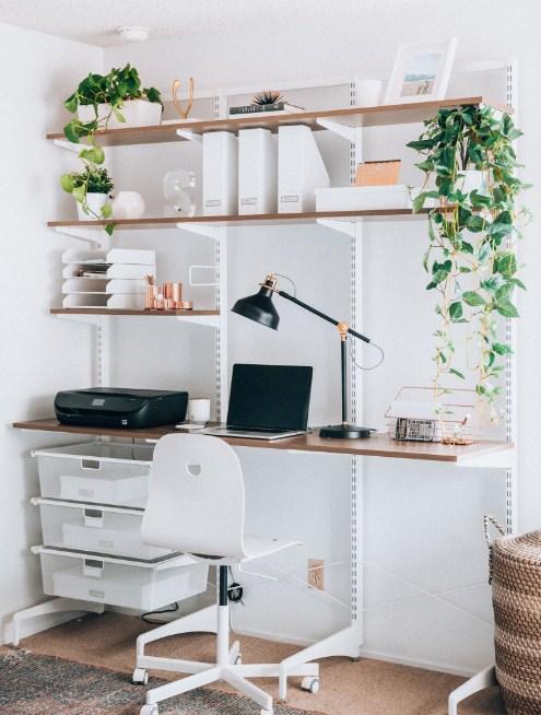 minimalist home office space modern