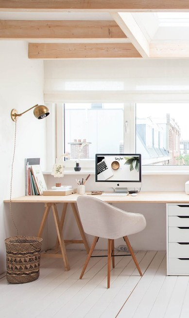minimalist home office storage