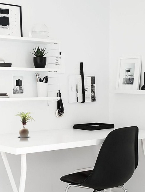 Minimalist Style Home Office Scandinavian
