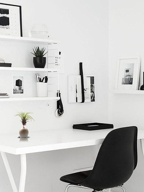 minimalist style home office scandinavian