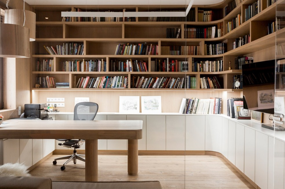 modern home office library design ideas for inspiration