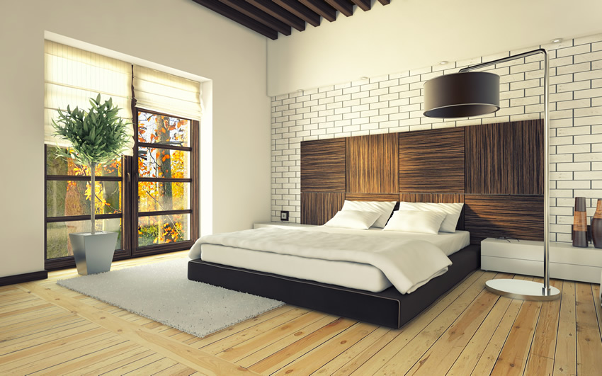 Modern Master Bedroom Beauteous Wall Modern Design