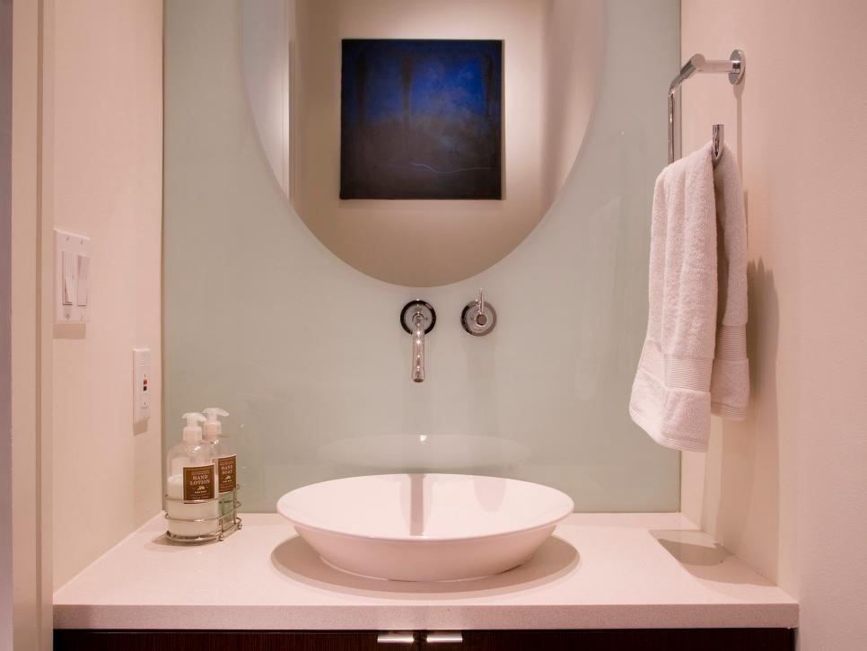 Bathroom Backsplash Beauties Hgtv Inexpensive Backsplash Bathroom