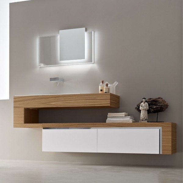 bathroom furniture decoration wood use built in modern simply unique designer bathroom vanity units
