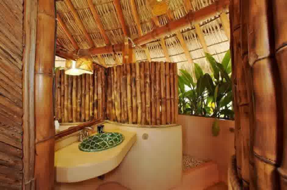 Bathroom Natural Bathroom Design With Bamboo Wall Natural Cheap Bamboo Bathroom Design