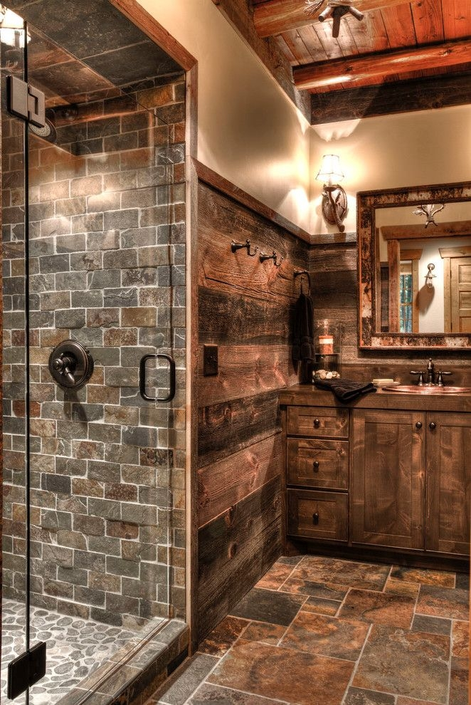 Best Rustic Bathroom Designs Ideas On Pinterest Rustic Cabin Best Rustic Bathroom Design