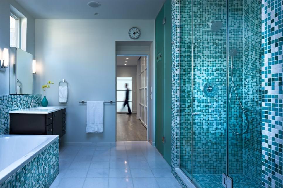Blue Bathroom Designs Decorating Ideas Design Trends Contemporary Blue Bathroom Design