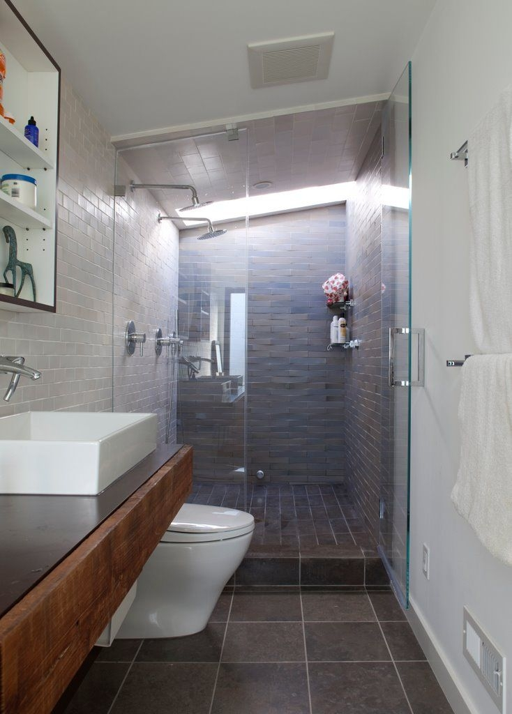 Decorating Ideas For Narrow Bathrooms Impressive Small Narrow Bathroom Design Ideas