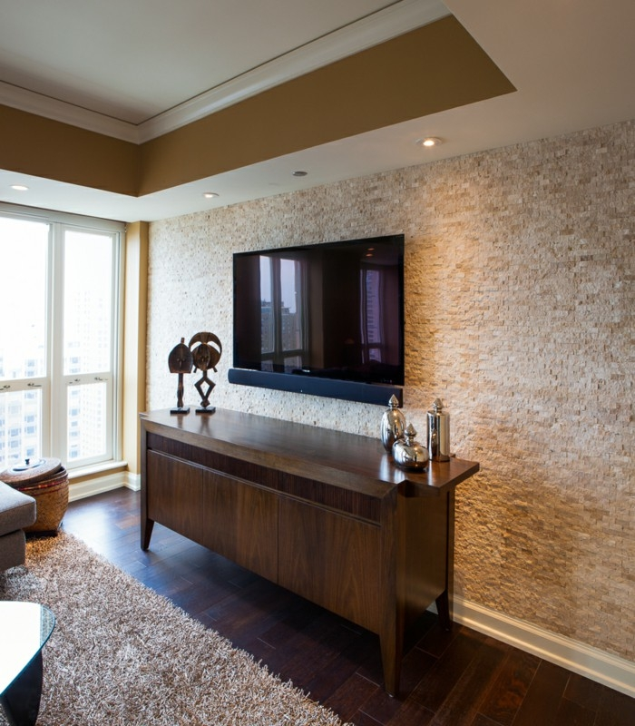 Ideas Tile On Bathroom Small Tiles Small Tiles As An Accent On Classic Living Room Wall Tiles Design