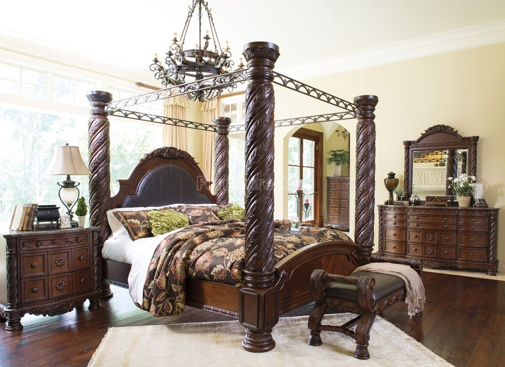 North Shore Canopy Bedroom Set Millennium Furniture Cart Impressive North Shore Living Room Set