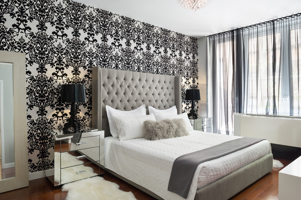 Stupendous Damask Wallpaper Design Ideas For Fine Bedroom Simple Damask Bedroom Ideas
