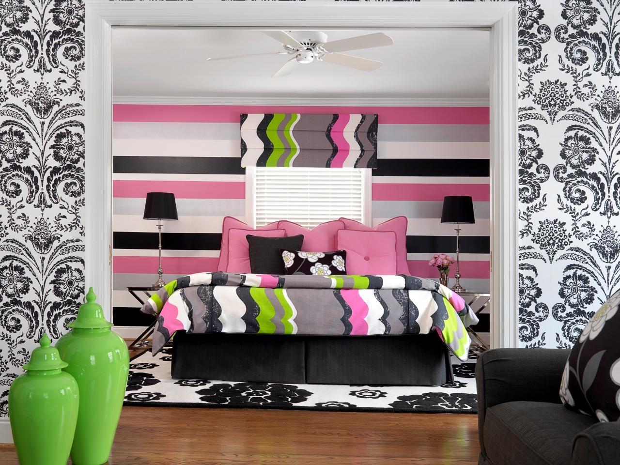 teenage bedroom color schemes pictures options ideas hgtv impressive teenage girl bedroom wall designs jpeg