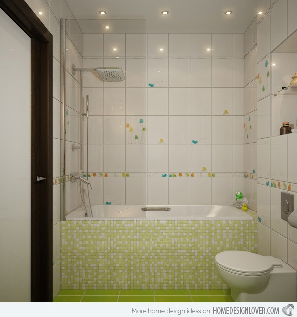 Unique Mosaic Tiled Bathrooms Home Design Lover Cool Bathroom Mosaic Tile Designs