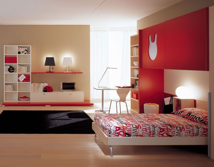 Voguish Themes And Color Schemes For Kids Bedrooms On Kids Room Inexpensive Bedroom Color Red