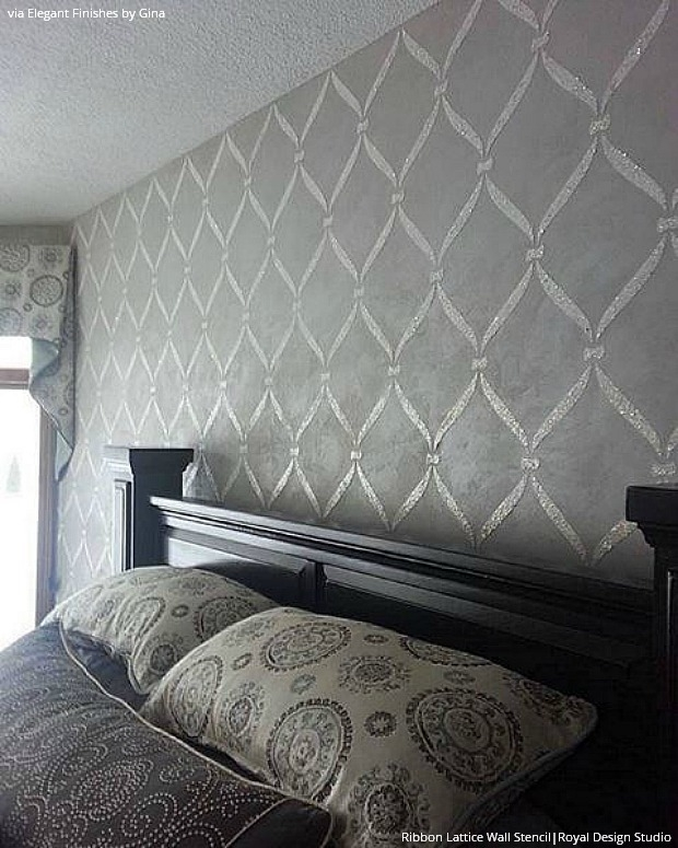 wall stencils ideas for dreamy romantic bedroom decor inspiring bedroom stencil ideas