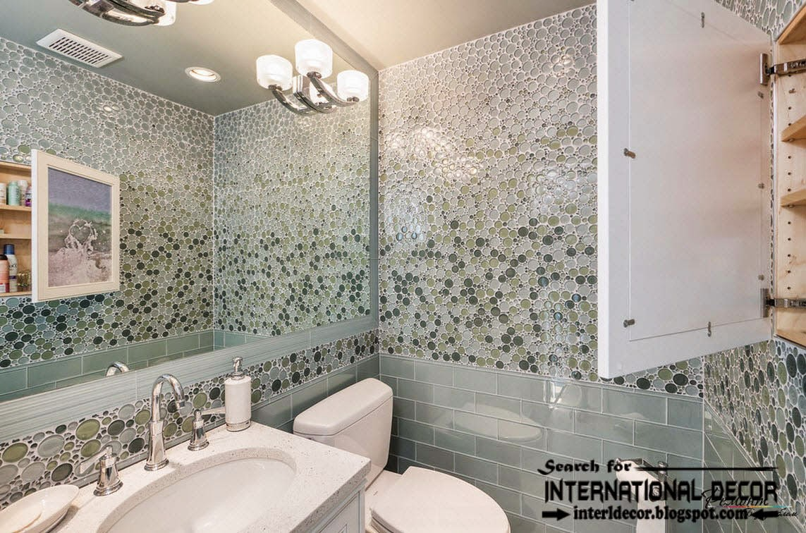 Latest Beautiful Bathroom Cool Wall Tiles Design