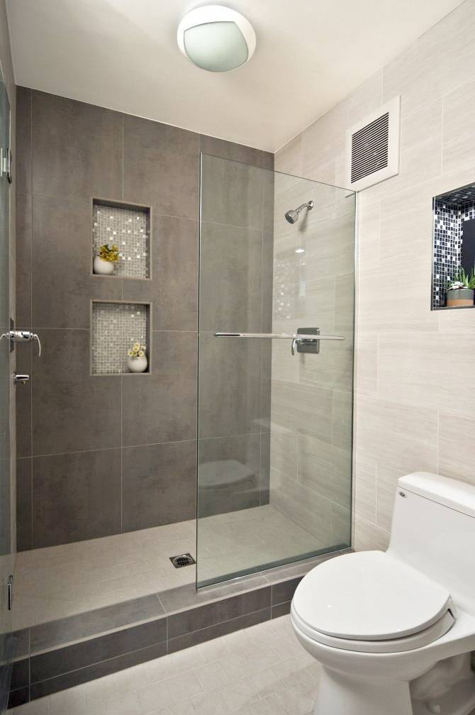 Modern Walk In Showers Small Bathroom Designs With Walk In Contemporary Tiling Designs For Small Bathrooms