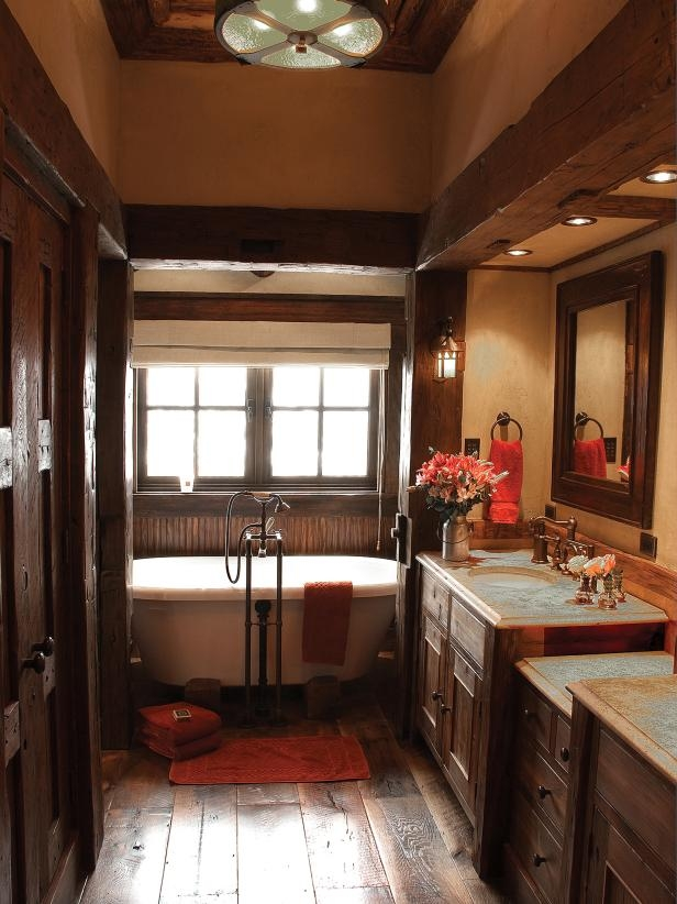 Rustic Bathroom Decor Ideas Pictures Tips From Hgtv Hgtv Awesome Rustic Bathroom Design